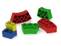 Curved Lego blocks – no supports needed