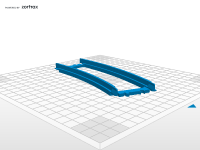 Simple Lego City train tracks