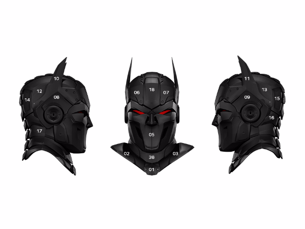Superhero Mask By Zortrax Library