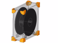 Filament CASE for standard 70mm spool