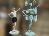 Freshy Girl 3D Printable Figure