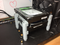 SSD and HDD mounting system