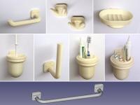 Bathroom accessories complete professional set