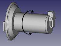 M300 rotatable spool holder