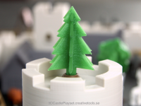 Simple 3D-printable pine tree